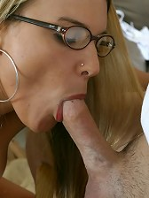 Horny sexy teacher rides her students face